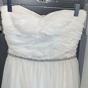 White formal dress - great for homecoming